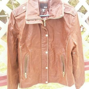 A.n.a. 100% genuine leather motto jacket size xl